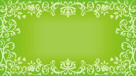 Floral plants Frame - Green color