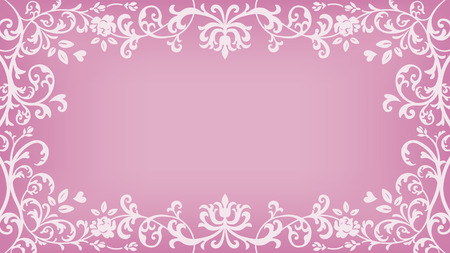 Floral plants Frame - Pink Color