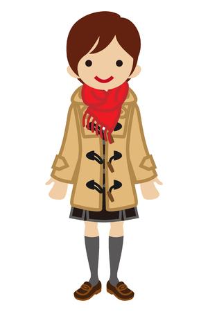 cabello corto: Colegiala corta el pelo - la manera del invierno