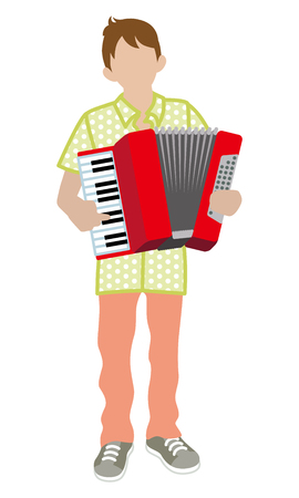 performance art: Male Musician - Accordion