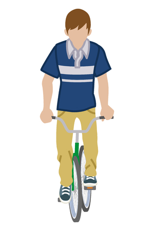 front of: Male Cyclist -Front view