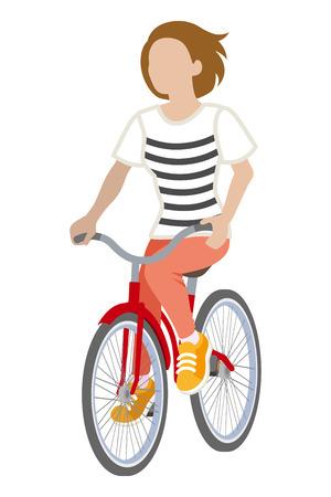 Female Cyclist -Bobbed hair