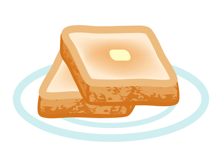 toasted: Toasted Bread illustration. Illustration
