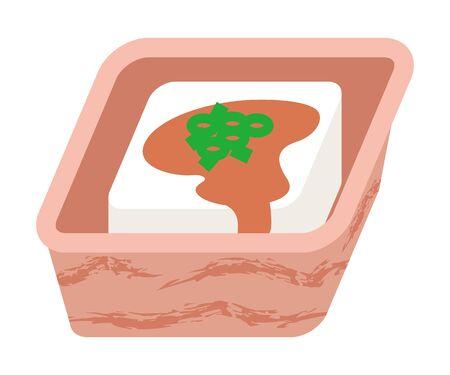 tofu: Japanese Tofu cuisine Illustration