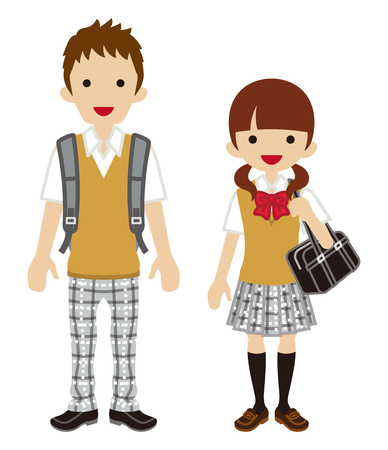 couple in summer: Summer fashion Student Couple -Vest
