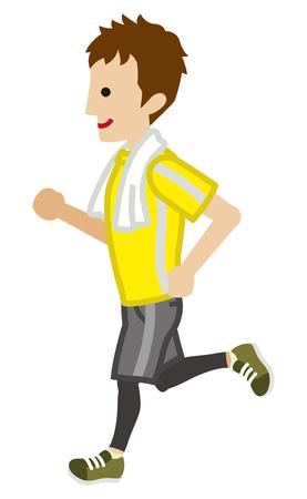 Running Teenage Boy
