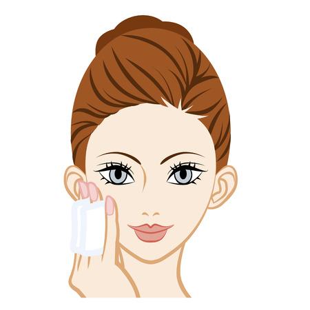 face treatment: Moisturizer Skin Care Facial Close-up