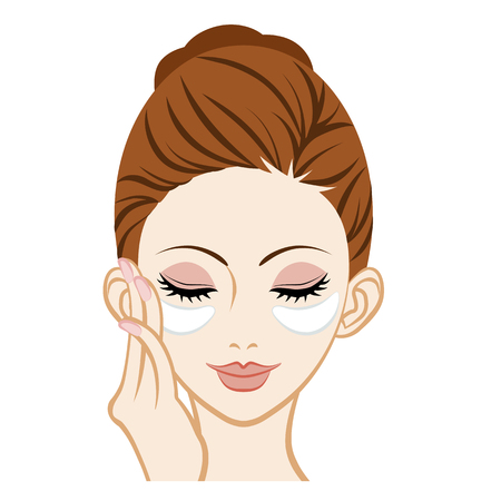 eye close up: Gel eye mask Facial Close-up