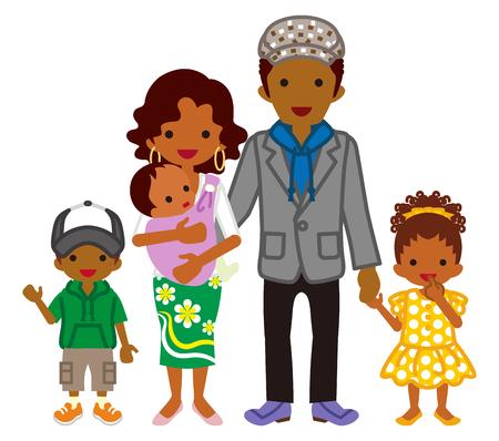 Junge Familie -Afrikanischer Abstammung Vektorgrafik