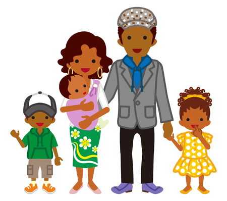 young family: Young family -African Ethnicity
