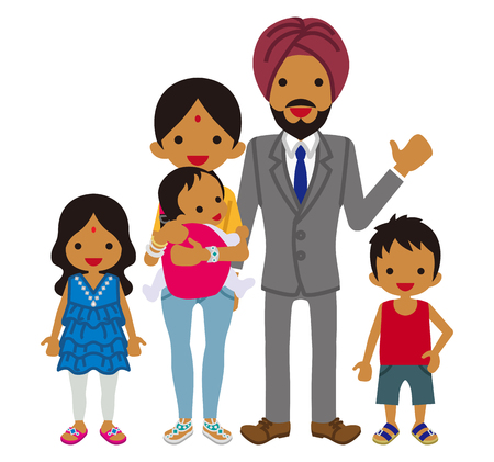 young family: Young family -Indian