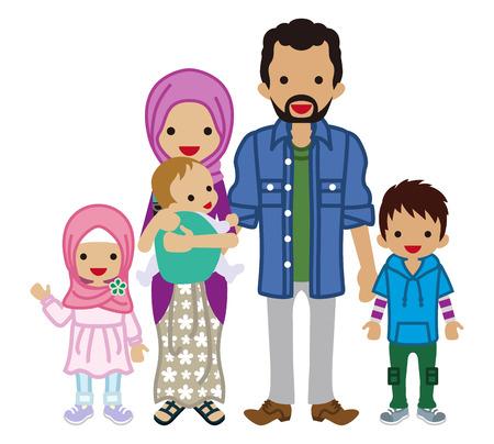 若い家族 - イスラム教徒