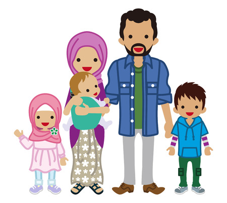Familia joven -Muslim Foto de archivo - 78077496