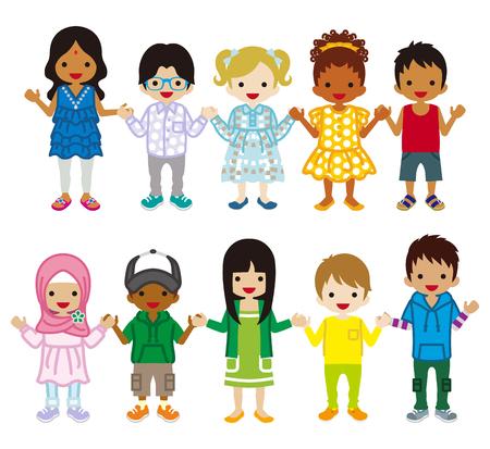 多民族の子供セット