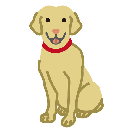 Labrador Retriever,Simple cartoon Illustration