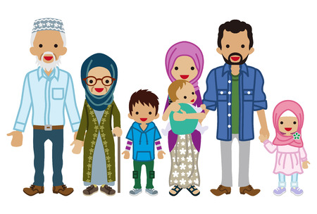 Multi-Generation family - Muslim Çizim