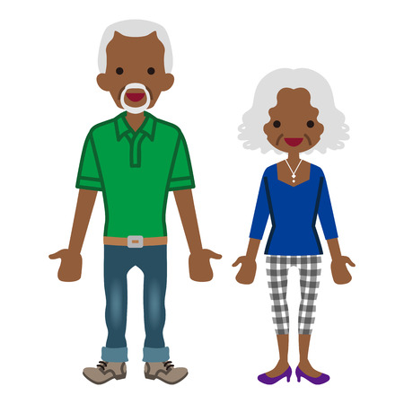 Senior couple -african Illustration