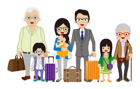Traveling Multi-Generation family - Asian