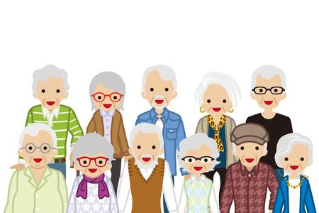 高齢者、腰の組み立てください。