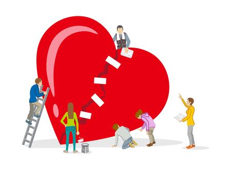 Naprawa serca - Zdrowie psychiczne Grafika koncepcyjna
