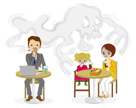 Secondhand smoke issue - Public spaces, Cartoon
