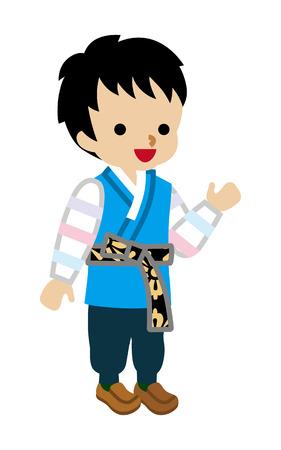 Korean Toddler Boy Wearing Traditional clothing