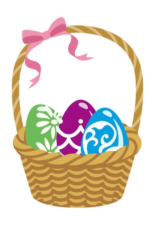 Easter eggs Basket illustration Ilustração