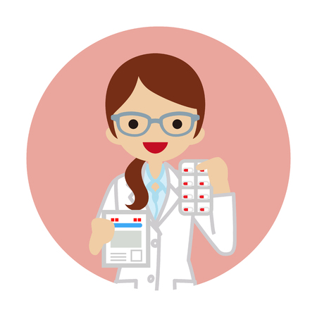 Female pharmacist icon