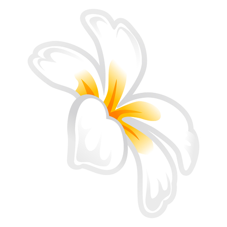 Frangipani flower head icon