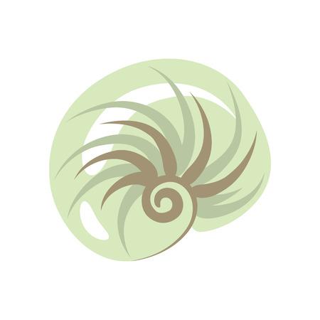 Seashell clip art icon
