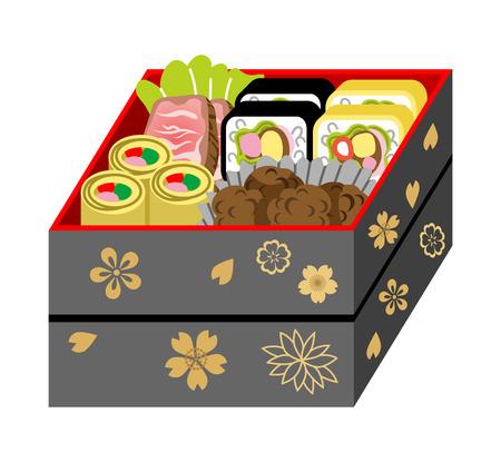 Japanese bento box Illustration