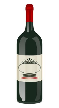 Wine bottle clip art