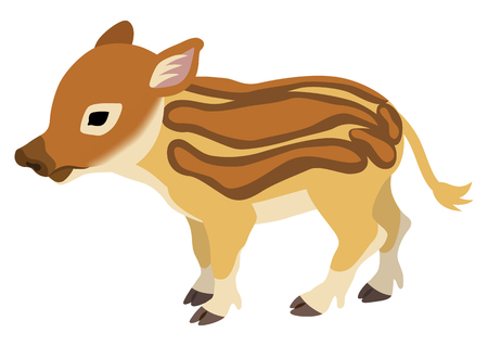 Baby Wild Boar, 2019 Japanese Zodiac Sign - Side View