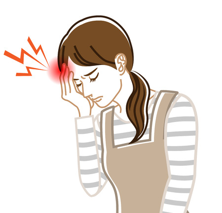 Headache - Physical disease image clip art - Housewife , Line art