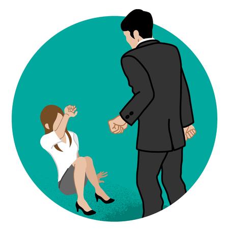 Employée menacée par le patron - Concept art d'abus sexuel