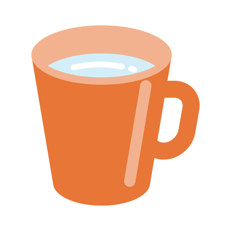 Orange colored Mug with water