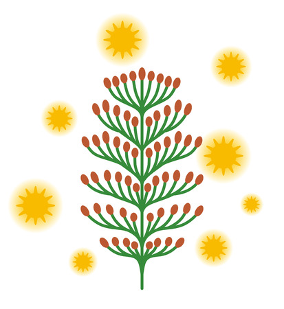 Hinoki pollen clip art