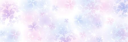 Silhouette of Hydrangea flower Gradation Background - Banner ratio Ilustração