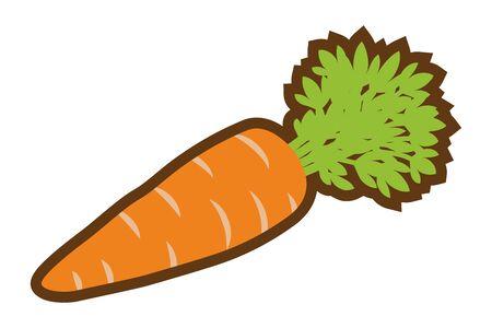 Icono de zanahoria, arte lineal