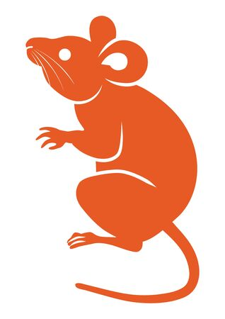 Rat icon clip art for Year of the rat