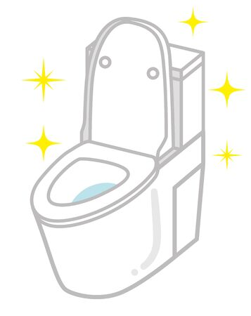 Clean toilet icon - cover opened