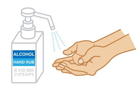 Disinfect hands by Alcohol gel