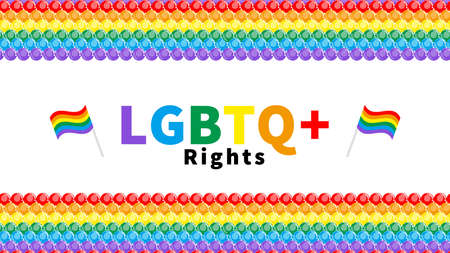 LGBTQ  Rights concept rainbow color balloons background