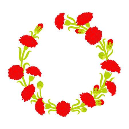 Carnation wreath decoration