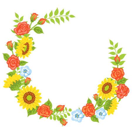Multiple kind of flowers decoration - Wreath
