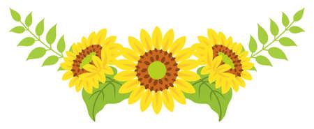 Sunflower decoration - Bended line