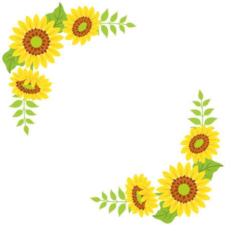 Sunflower decoration - Corner frame