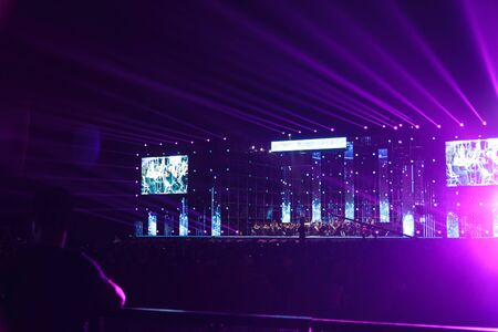 Lighting in a orchestra concert held at lian huan shan park,shenzhen Editorial