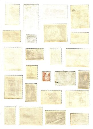 collection of blank old post stamps Stock Photo - 5773404