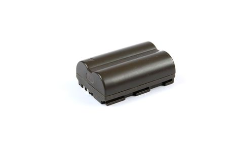 rechargeable: Typical Digital SLR rechargeable battery. Stock Photo